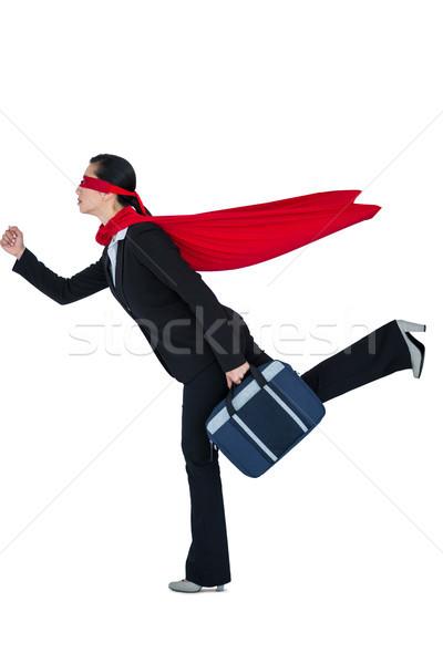 Kadın süper kahraman beyaz çalışma eğlence top Stok fotoğraf © wavebreak_media