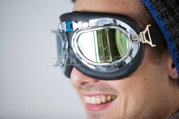 Man wearing aviator goggles Stock photo © wavebreak_media