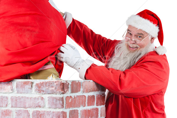 サンタクロース ギフトボックス 煙突 クリスマス 時間 男 ストックフォト © wavebreak_media
