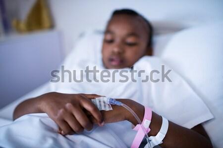 Medico asma donna uomo bambino Foto d'archivio © wavebreak_media