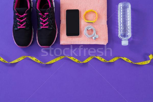 кроссовки фляга полотенце мобильного телефона наушники Сток-фото © wavebreak_media
