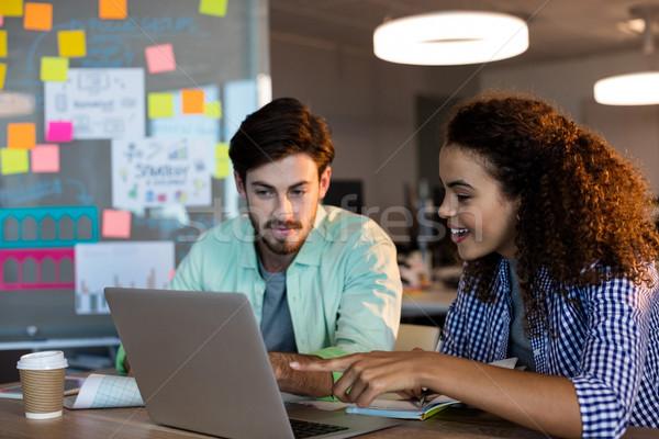 Creatieve zakenlieden werken bureau kantoor business Stockfoto © wavebreak_media