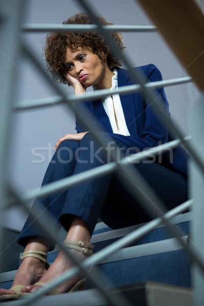 Bezorgd zakenvrouw vergadering stappen vrouw zakenman Stockfoto © wavebreak_media