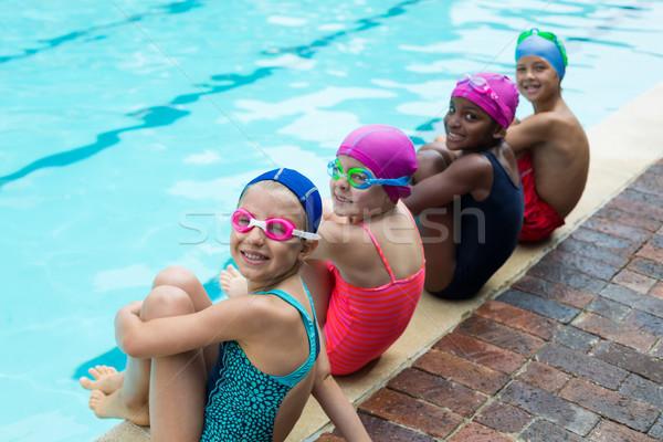 Portrait of little swimmers at poolside Stock photo © wavebreak_media