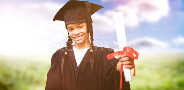 Imagem bonitinho graduação robe nuvens Foto stock © wavebreak_media