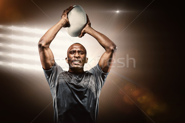 Image déterminé ballon de rugby Photo stock © wavebreak_media