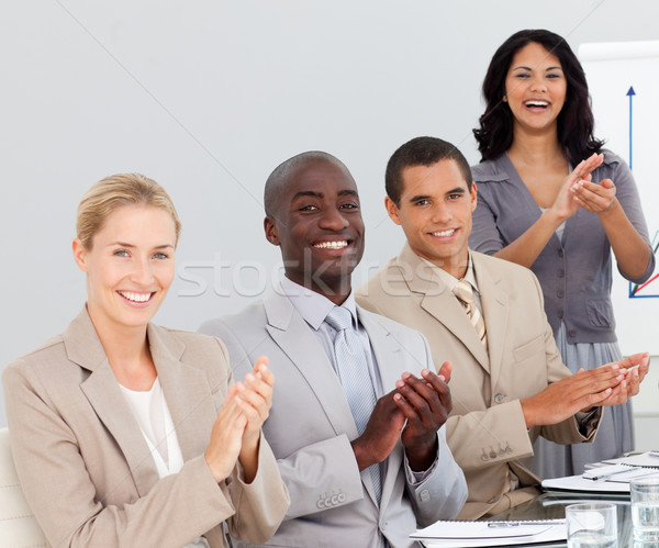 Business people clapping at a presentation Stock photo © wavebreak_media