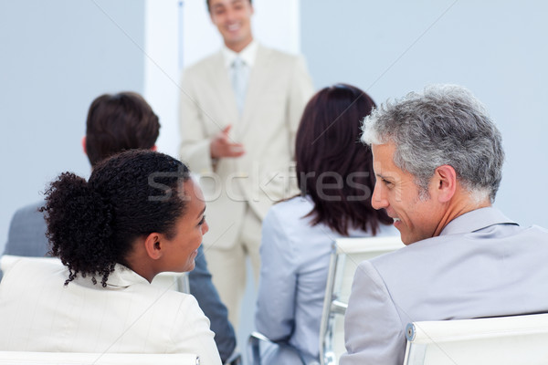 Two business people interacting at a conference Stock photo © wavebreak_media