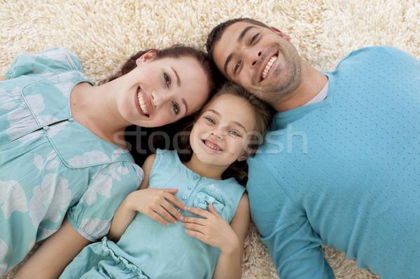 Padres hija piso junto círculo Foto stock © wavebreak_media