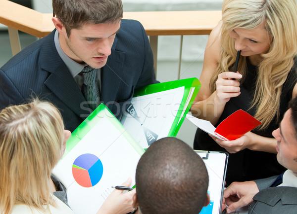 Magasról fotózva csapat megbeszélés lépcsősor fiatal üzleti csapat Stock fotó © wavebreak_media