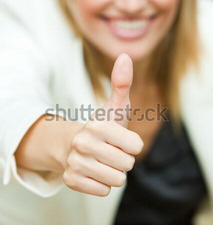 Işkadını ofis kadın kız mutlu Stok fotoğraf © wavebreak_media