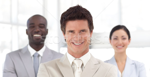Stockfoto: Business · team · tonen · geest · positiviteit · man