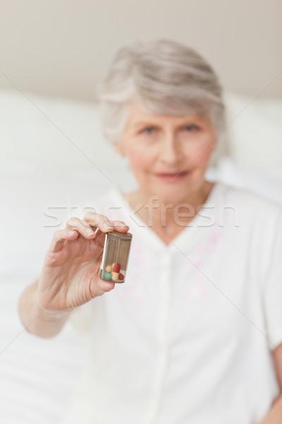 Senior woman looking at the camera Stock photo © wavebreak_media