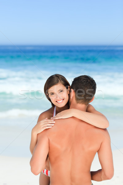 Lovely lovers at the beach Stock photo © wavebreak_media