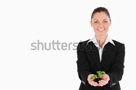 きれいな女性 スーツ 小 工場 立って ストックフォト © wavebreak_media