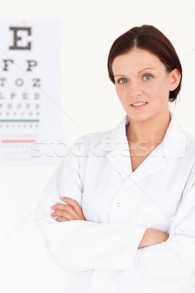 Női optikus karok látásvizsgálat szemek egészség Stock fotó © wavebreak_media