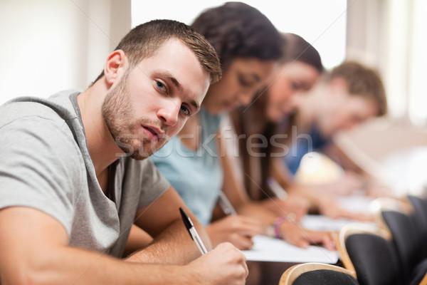 студентов сидят амфитеатр студент образование Сток-фото © wavebreak_media
