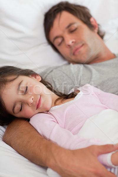 портрет отец спальный дочь спальня глазах Сток-фото © wavebreak_media