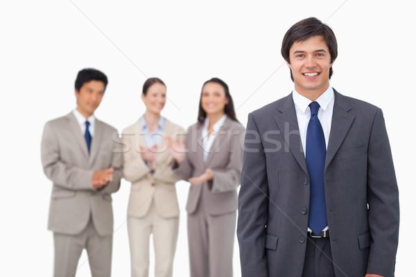 Zakenman collega's witte pak bedrijf manager Stockfoto © wavebreak_media