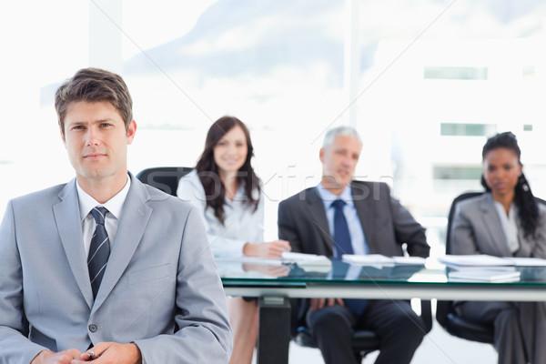 Foto stock: Empresário · sessão · equipe · quarto · escritório · homem