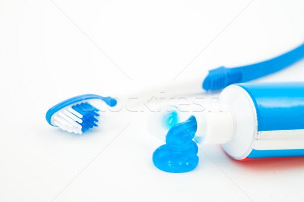 Diş macunu tüp beyaz mavi bakım diş Stok fotoğraf © wavebreak_media