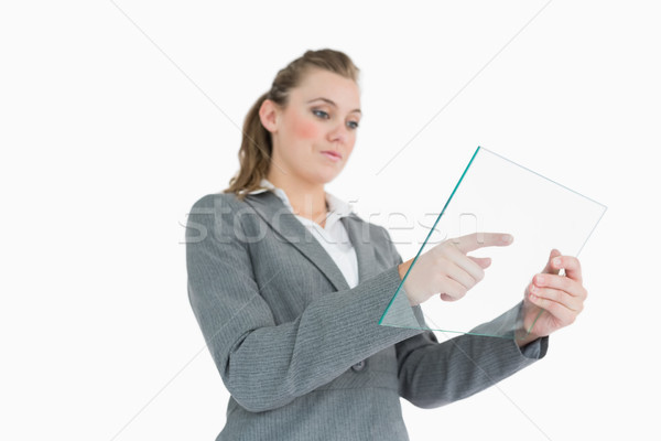 女性実業家 ガラス スーツ 女性 ストックフォト © wavebreak_media