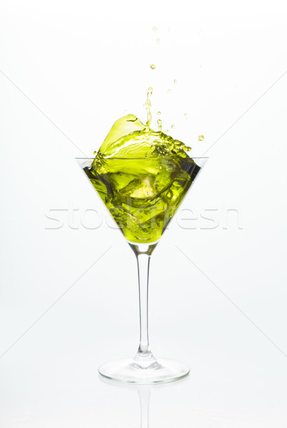 Cocktail glass with yellow alcohol  Stock photo © wavebreak_media