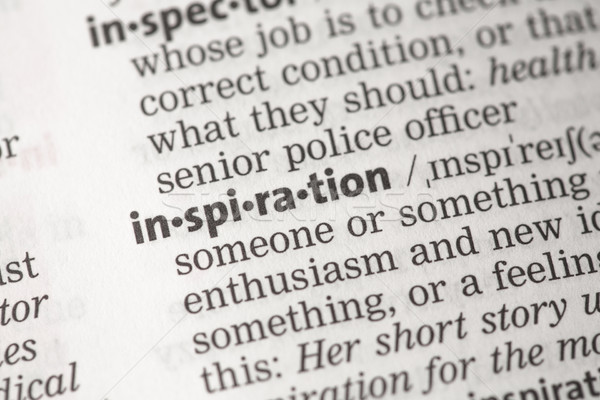 Stock photo: Inspiration definition