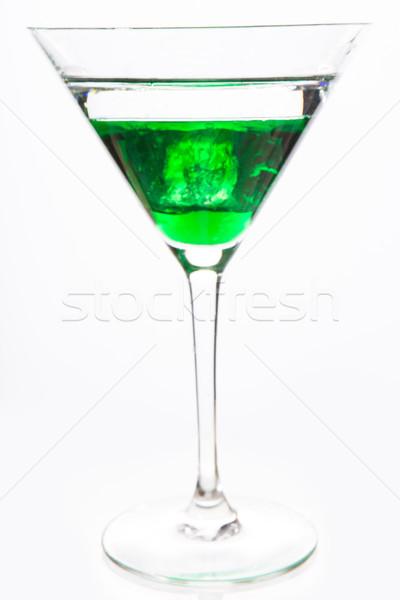 Koktél üveg zöld alkohol közelkép fehér Stock fotó © wavebreak_media