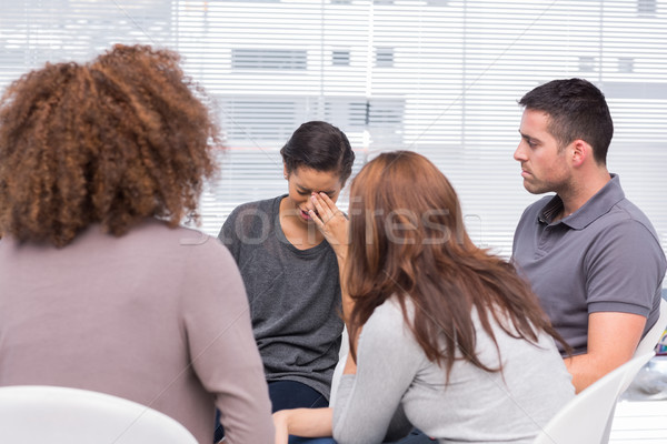 Patient crying during a group session Stock photo © wavebreak_media
