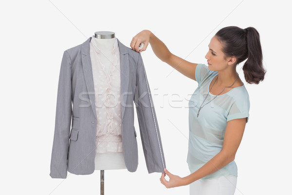 Mode designer blazer douille blanche Photo stock © wavebreak_media