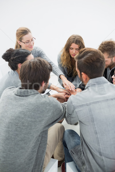 Grup tedavi oturma daire terapist adam Stok fotoğraf © wavebreak_media