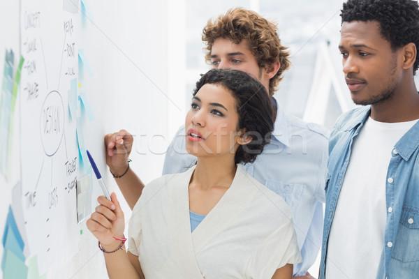 Discussie groep kantoor vergadering werken Stockfoto © wavebreak_media