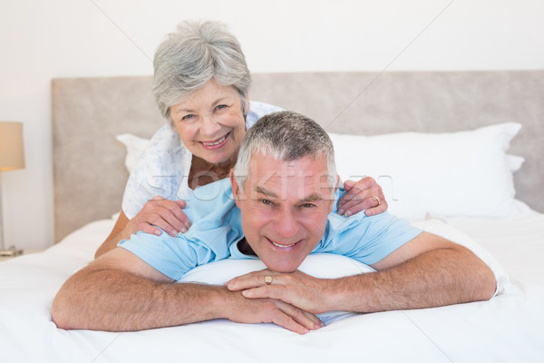 Senior mulher marido quarto retrato casa Foto stock © wavebreak_media