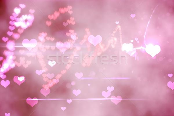 Digitalmente generato amore rosa Foto d'archivio © wavebreak_media