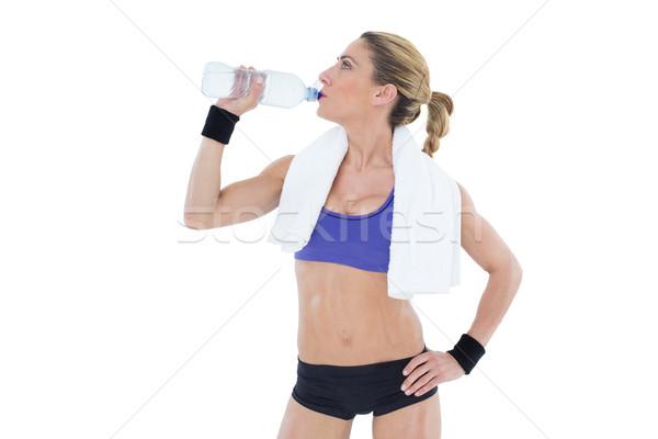 Zdjęcia stock: Silne · pitnej · manierka · biały · kobieta