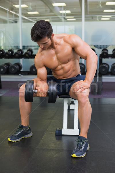 Gespierd man gymnasium portret Stockfoto © wavebreak_media