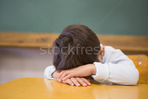 сонный столе классе школы ребенка Сток-фото © wavebreak_media