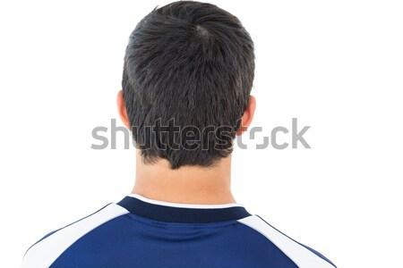 Közelkép hátsó nézet futballista fehér sport futball Stock fotó © wavebreak_media