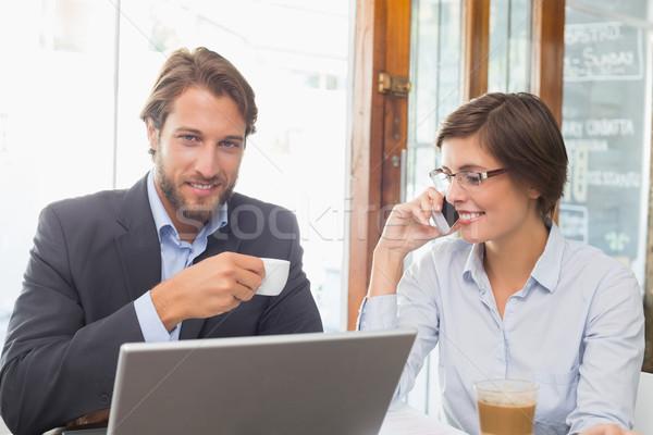 Business colleagues working on their break Stock photo © wavebreak_media