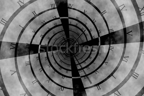 Digitalmente generado reloj vórtice gris Foto stock © wavebreak_media