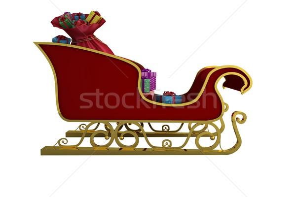 Red and gold santa sleigh Stock photo © wavebreak_media