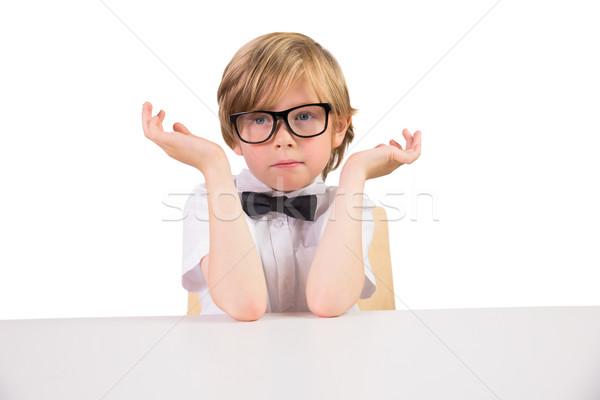 学生 着用 眼鏡 白 学校 ストックフォト © wavebreak_media