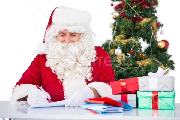счастливым Дать письме подарки белый Сток-фото © wavebreak_media