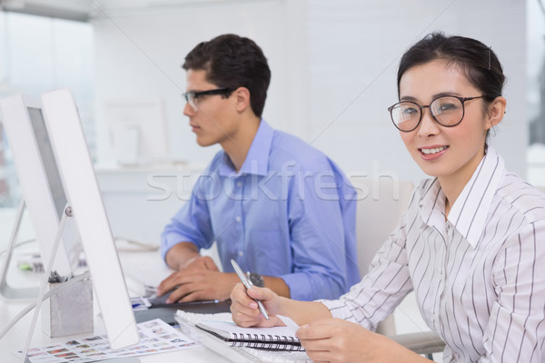 Creative команда рабочих столе служба компьютер Сток-фото © wavebreak_media
