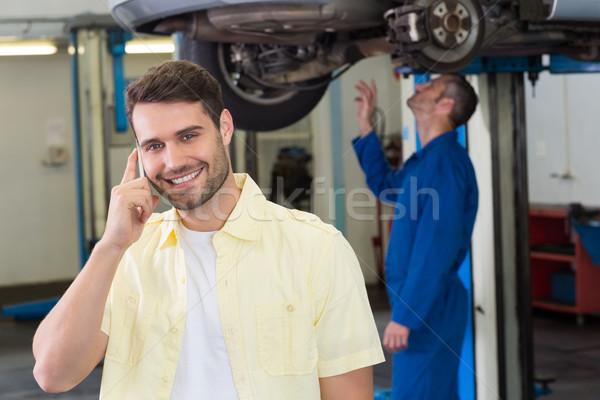 Customer making a phone call Stock photo © wavebreak_media