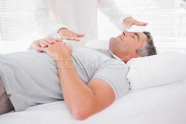Terapeuta de trabajo hombre médicos oficina mujer Foto stock © wavebreak_media