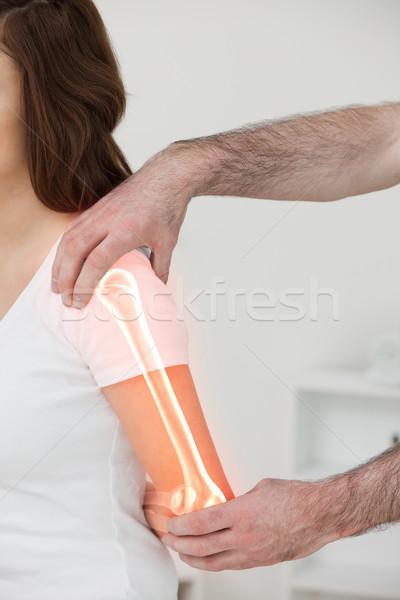Csontok nő digitális kompozit férfi orvos orvosi Stock fotó © wavebreak_media