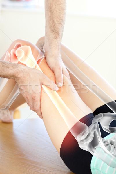 骨 女性 デジタル複合 手 男 医師 ストックフォト © wavebreak_media