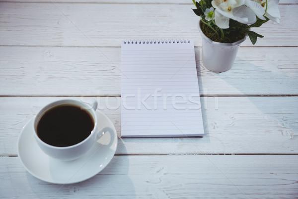 Stockfoto: Shot · notepad · bureau · business · kantoor · papier
